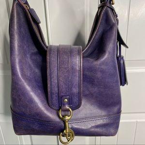 Coach leather purple purse